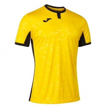 Koszulka piłkarska Joma Toletum II 101476 żółta z czarnymi dodatkami
