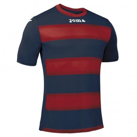 Koszulka piłkarska z krótkim rękawem Joma Europa III 101546- Czerwono granatowe pasy