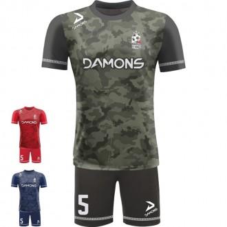 Stroje piłkarskie Damons ALFA P24. Komplety dla piłkarzy.