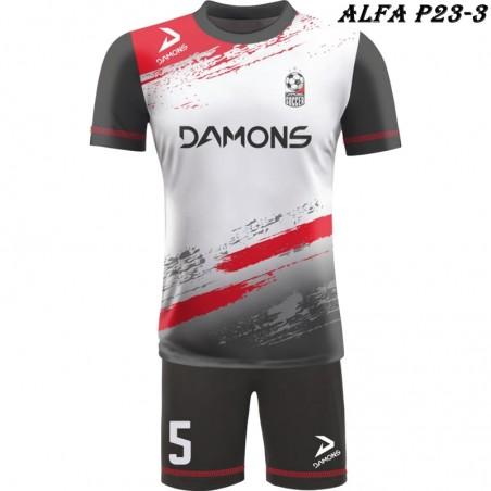 Strój piłkarski Damons ALFA P23-3. Komplety dla piłkarzy.